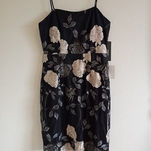 Lulu's Elston Floral Embroidered Bodycon Dress